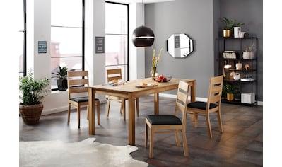 Home affaire Essgruppe »Soeren 4« (Set, 5 - tlg Tisch 180/90 cm, 4 Stühle, Polstersitz) kaufen