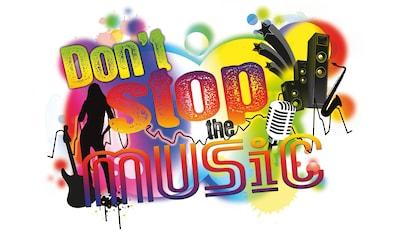 Komar Wandtattoo »Don´t stop the music«, selbstklebend, rückstandslos abziehbar kaufen