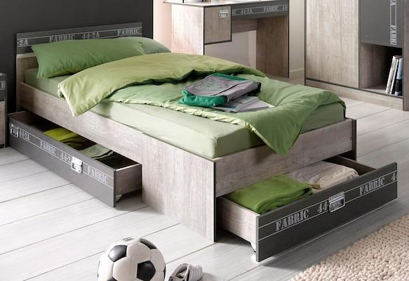modernes Stauraumbett für Jugendzimmer