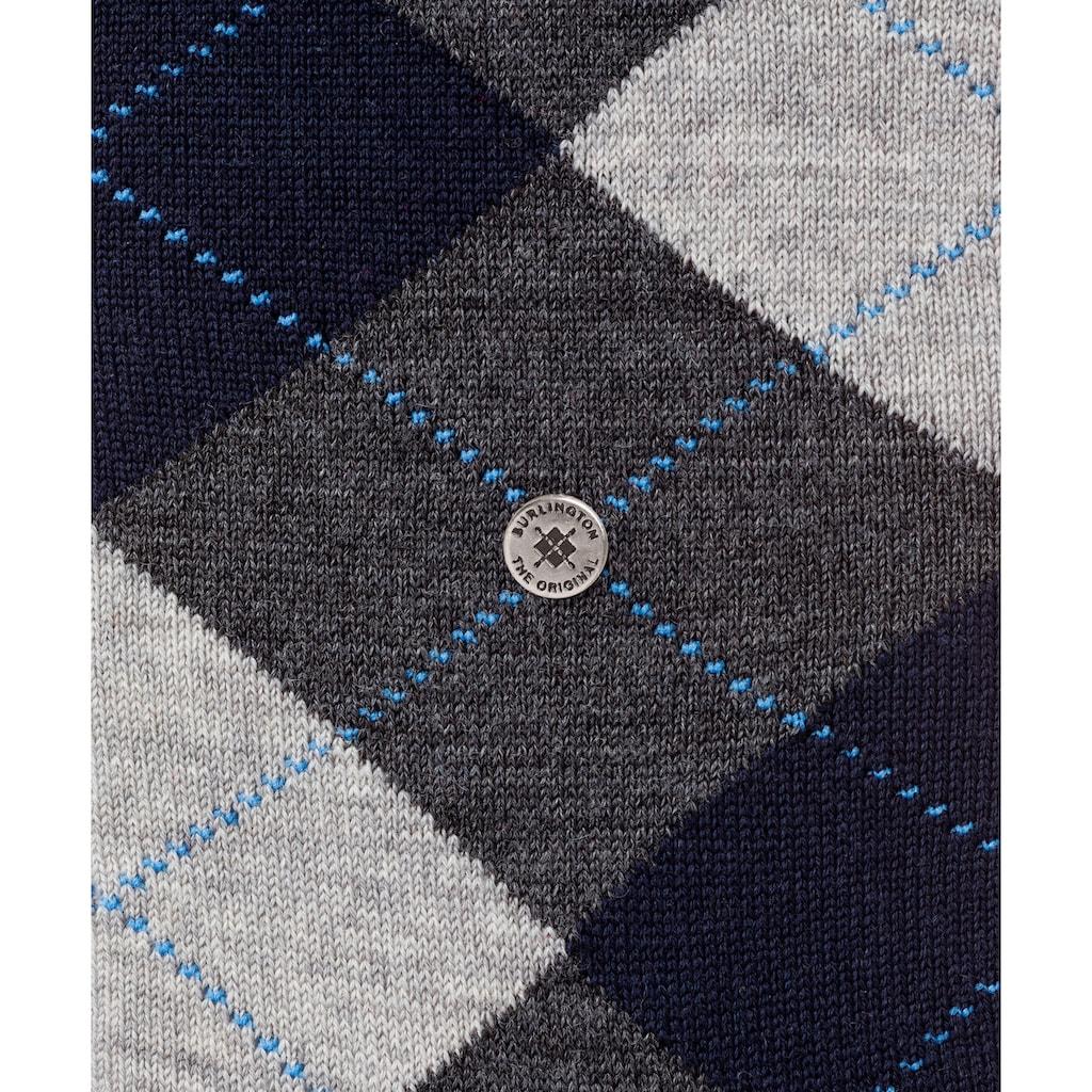 Burlington Kniestrümpfe »Edinburgh«, (1 Paar), mit hohem Schurwoll-Anteil