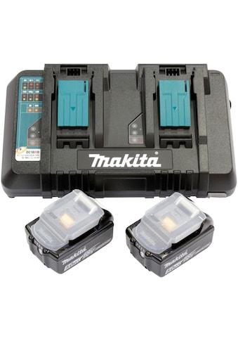 Makita Akku-Ladestation »Power Source Kit Li 18 V 5,0 Ah«, (Set), inklusive 2 x 18 V Li-ionen Akkus kaufen