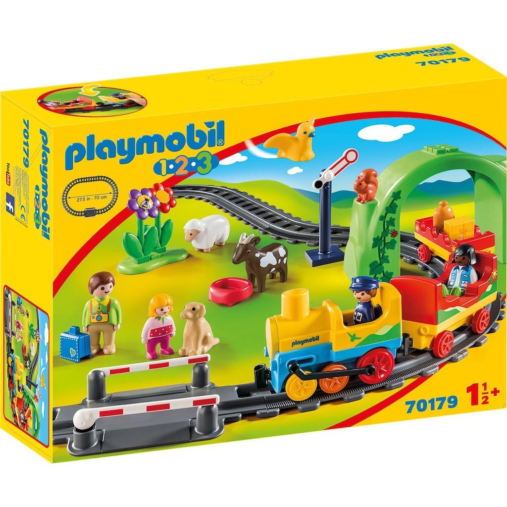 Playmobil® Konstruktions-Spielset »Meine erste Eisenbahn (70179), Playmobil 1-2-3«, Made in Europe