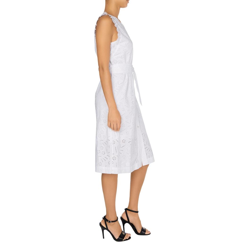 Tommy Hilfiger Sommerkleid »RUBI EMB DRESS NS«, mit allover zarter Lochstickerei