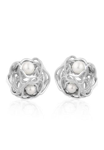 Nenalina Paar Ohrstecker »Ohrstecker Gewoben Süßwasserperlen 925 Silber« kaufen