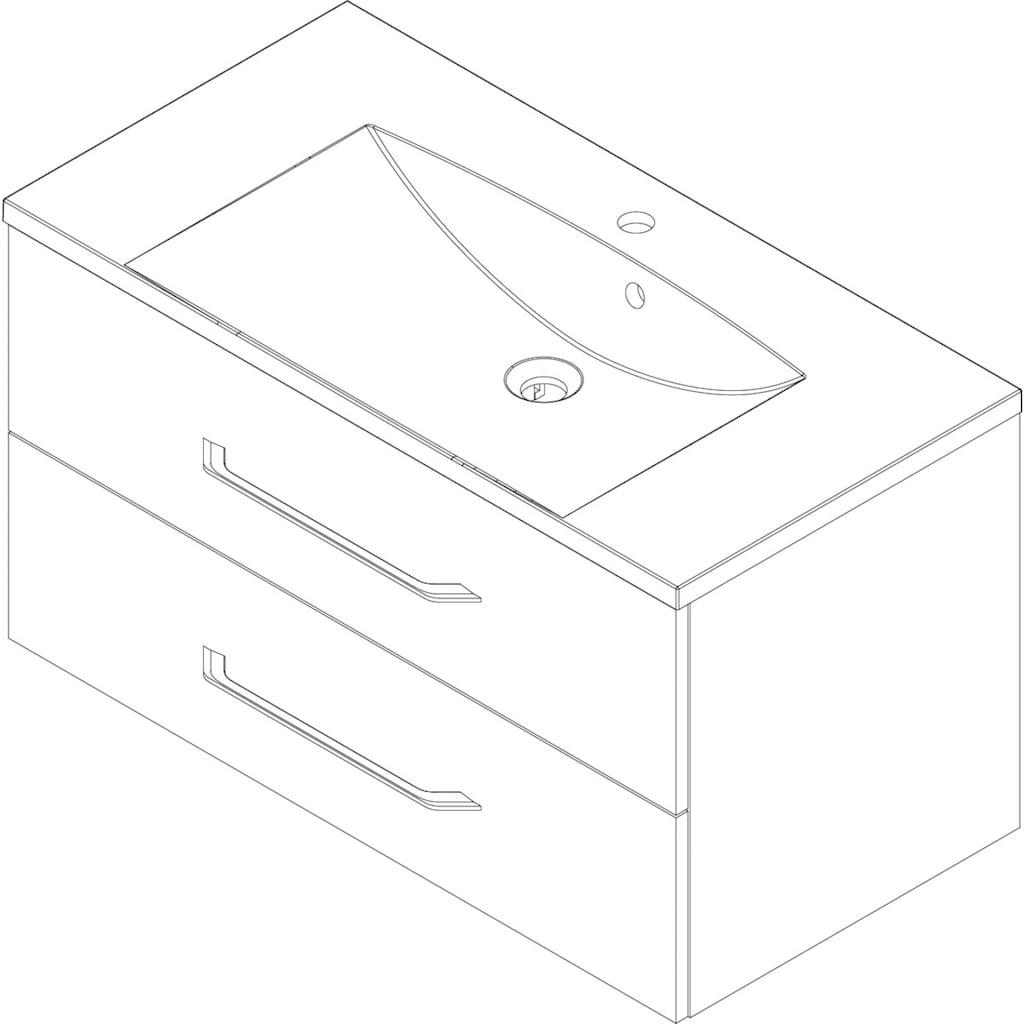 FACKELMANN Waschtisch »B.clever«, Breite 90 cm