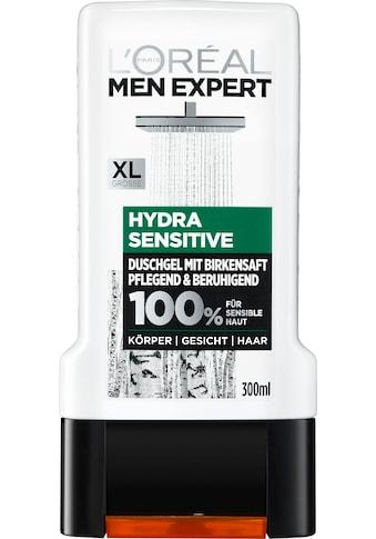 L'ORÉAL PARIS MEN EXPERT Duschgel »Hydra Sensitive Birkensaft«, Gesicht, Körper & Haare kaufen