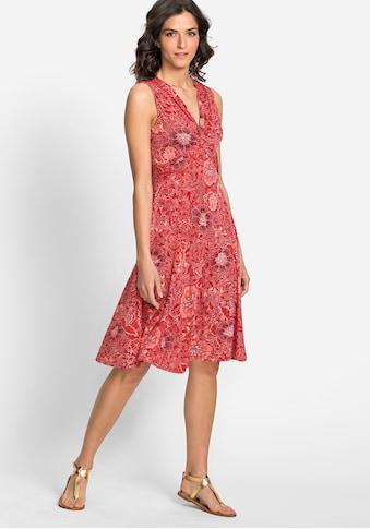 Olsen Sommerkleid, mit Ausschnitt in gekreuzter Knoten-Optik kaufen