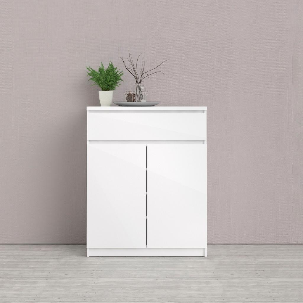 Home affaire Sideboard »Naia«, Made in Denmark, mit abgerundeten Schubladenkanten, Schubladen auf Metallgleiter, Breite 80,2 cm