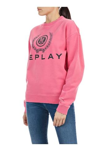 Replay Sweatshirt, mit großem Logo-Print kaufen