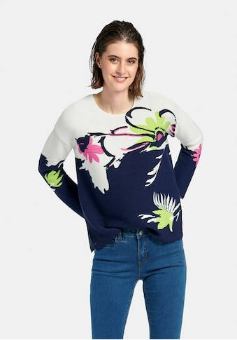 Looxent Strickpullover »Rundhals-Pullover mit überschnittener Schulter« kaufen