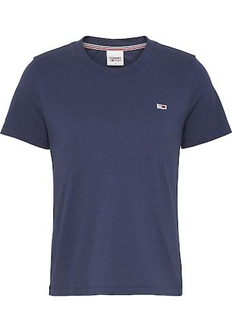 TOMMY JEANS Rundhalsshirt »TJW REGULAR JERSEY C NECK«, mitTommy Jeans Logo-Flag auf der Brust kaufen