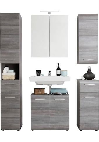 trendteam Badmöbel-Set »Skin«, (Set, 5 St.), Spiegelschrank mit LED-Beleuchtung,... kaufen