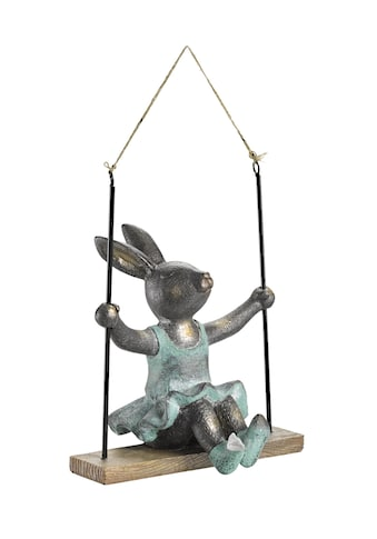 Deko-Figur niedlicher Hase auf Schaukel kaufen
