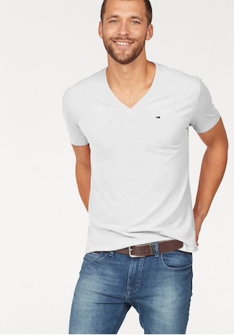 TOMMY JEANS T - Shirt »TJM ORIGINAL TRIBLEND V NECK TEE« kaufen