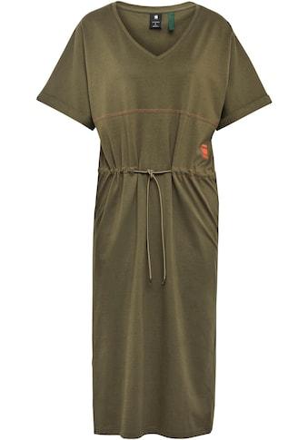 G-Star RAW Jerseykleid »Adjustable Waist Kleid«, mit Kordelzug an der Taille –... kaufen