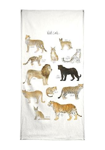 """Handtuch """"Wild Cats"""", Juniqe kaufen"""