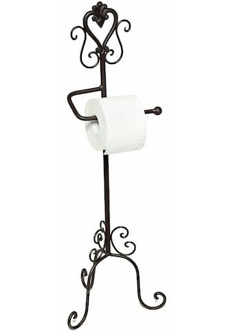 Home affaire Toilettenpapierhalter »Antik«, schwarz kaufen