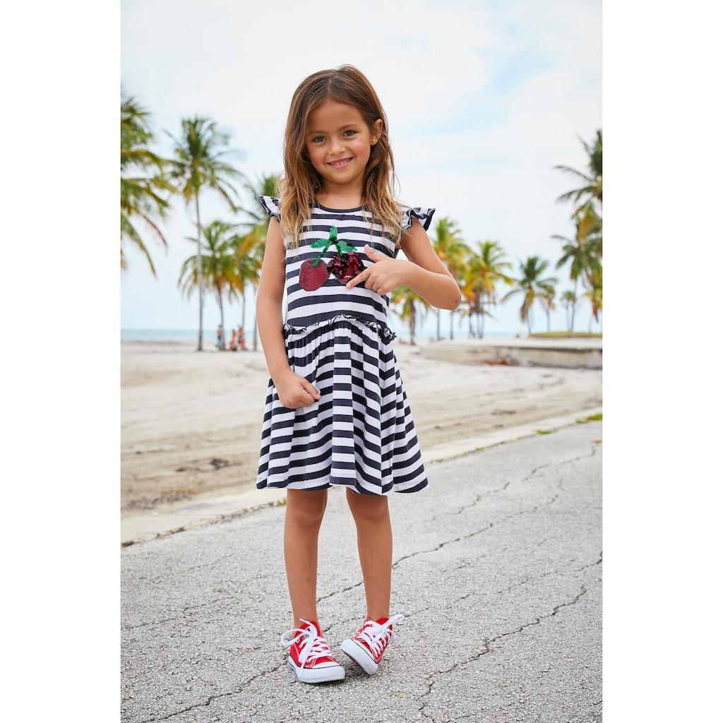 KIDSWORLD Jerseykleid, mit Wendepailletten
