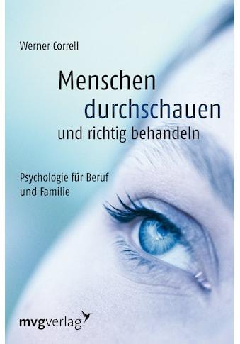 Buch »Menschen durchschauen und richtig behandeln / Werner Correll« kaufen