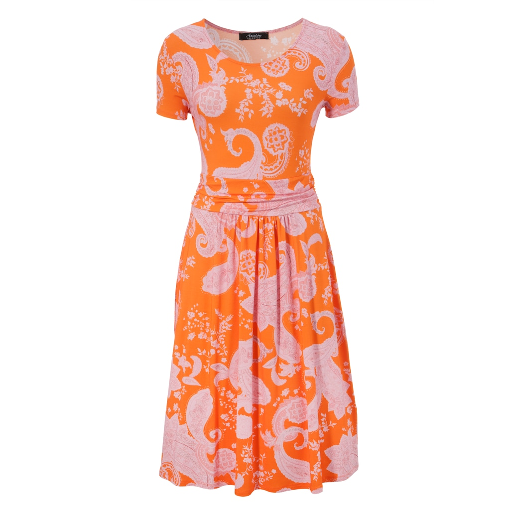 Aniston SELECTED Sommerkleid, mit Paisley-Druck in modischer Knallfarbe - NEUE KOLLEKTION