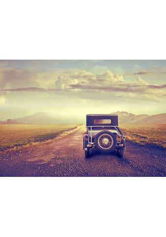 Papermoon Fototapete »Oldtimer in der Wüste«, Vliestapete, hochwertiger Digitaldruck kaufen