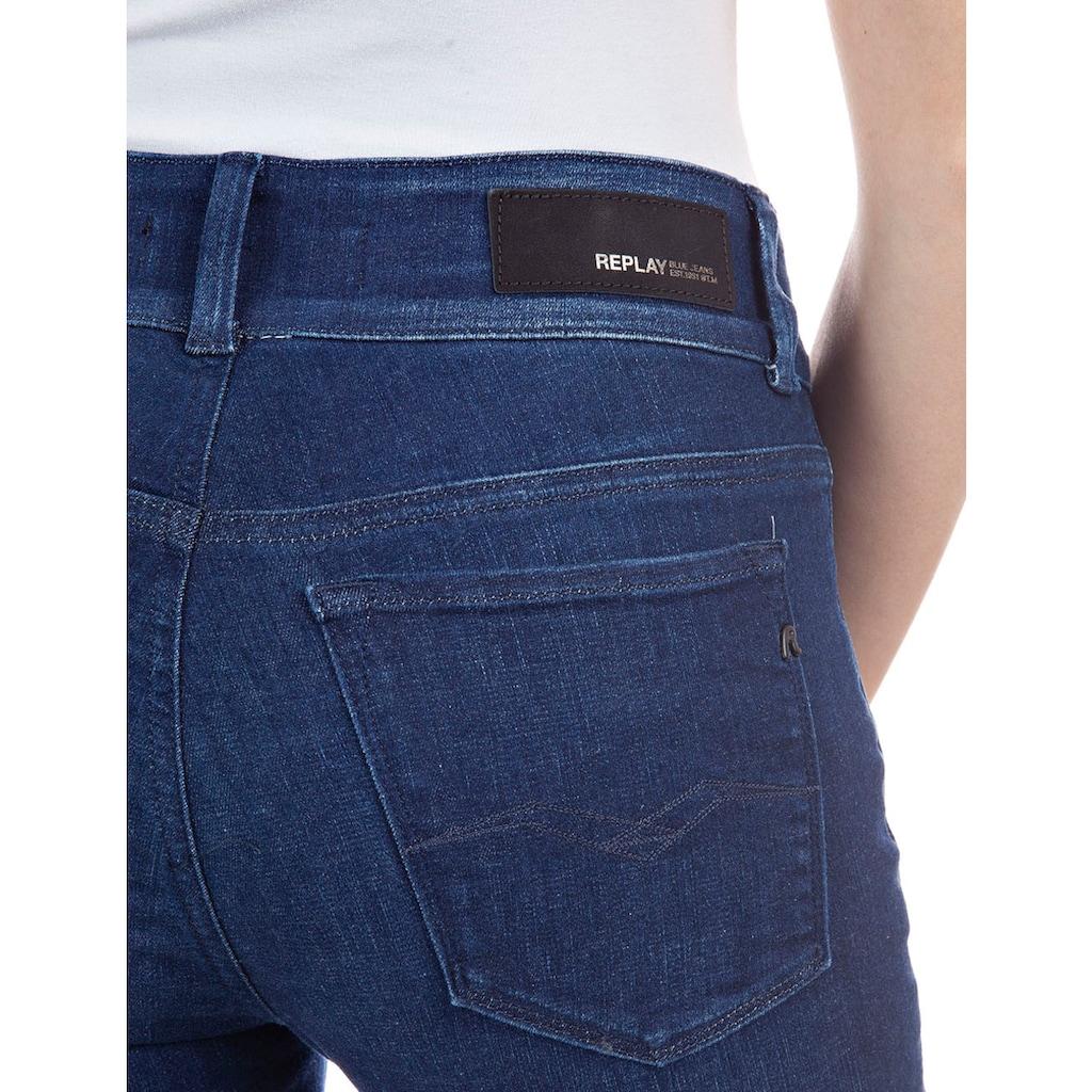 Replay Bootcut-Jeans »New Luz Flare«, mit taillenhohem Bund& breiten Gürtelschlaufen