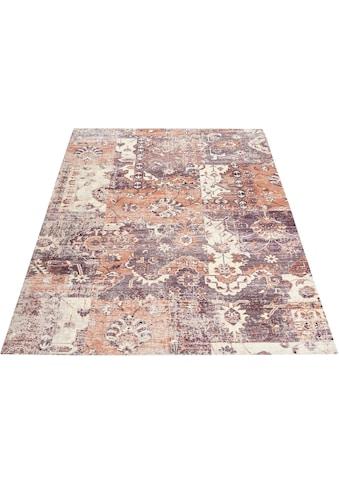 DELAVITA Teppich »Salma«, rechteckig, 10 mm Höhe, Vintage Design, Wohnzimmer kaufen