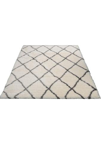 merinos Hochflor-Teppich »Floki 80075«, rechteckig, 70 mm Höhe, Besonders weich durch Microfaser, Wohnzimmer kaufen