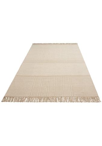 Leonique Teppich »Indira«, rechteckig, 12 mm Höhe, mit Fransen, Wohnzimmer kaufen