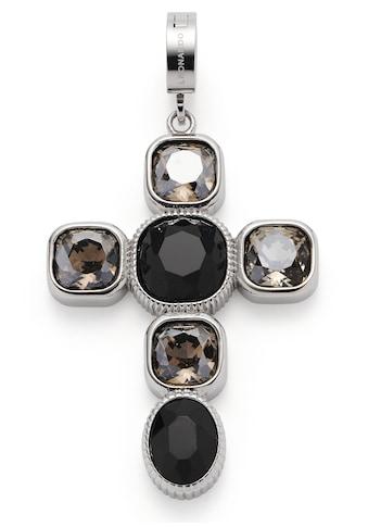 LEONARDO Charm-Einhänger »Kreuz, Venetta Clip&Mix, 018760«, mit Glassteinen kaufen