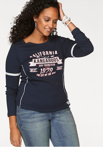 KangaROOS Langarmshirt, mit Print Vorne und an Ärmeln kaufen