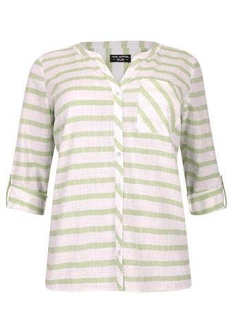 VIA APPIA DUE Sommerliche Bluse mit Ringelmuster kaufen