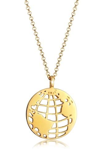 Elli Kette mit Anhänger »Weltkugel Globus Anhänger Plättchen, 0112830319« kaufen