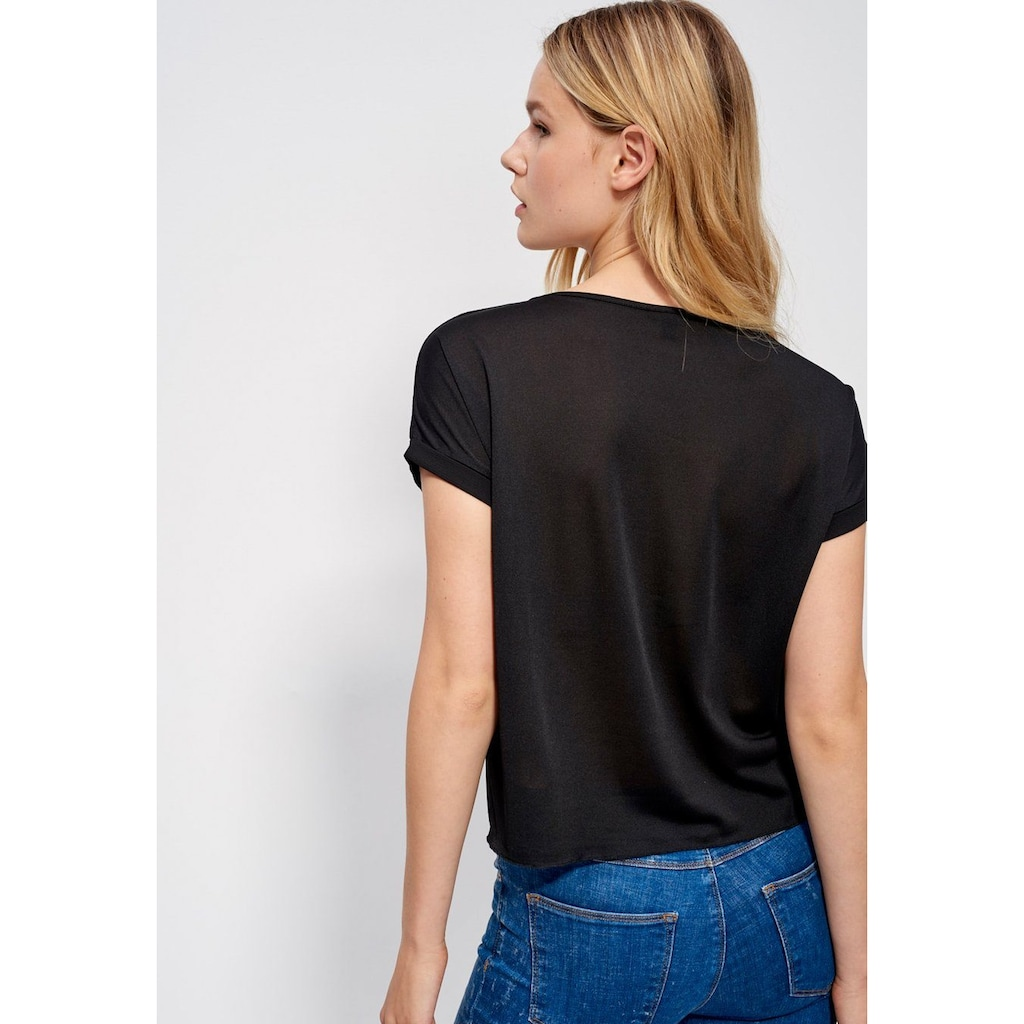 Mexx Shirtbluse, mit Tasche und Perlenapplikation