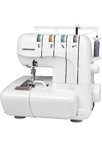 Medion® Overlock-Nähmaschine »MD 18030«, Nähen mit 3 oder 4 Fäden gleichzeitig kaufen