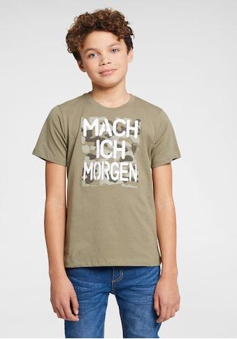 KIDSWORLD T-Shirt »Mach ich morgen«, Druck kaufen