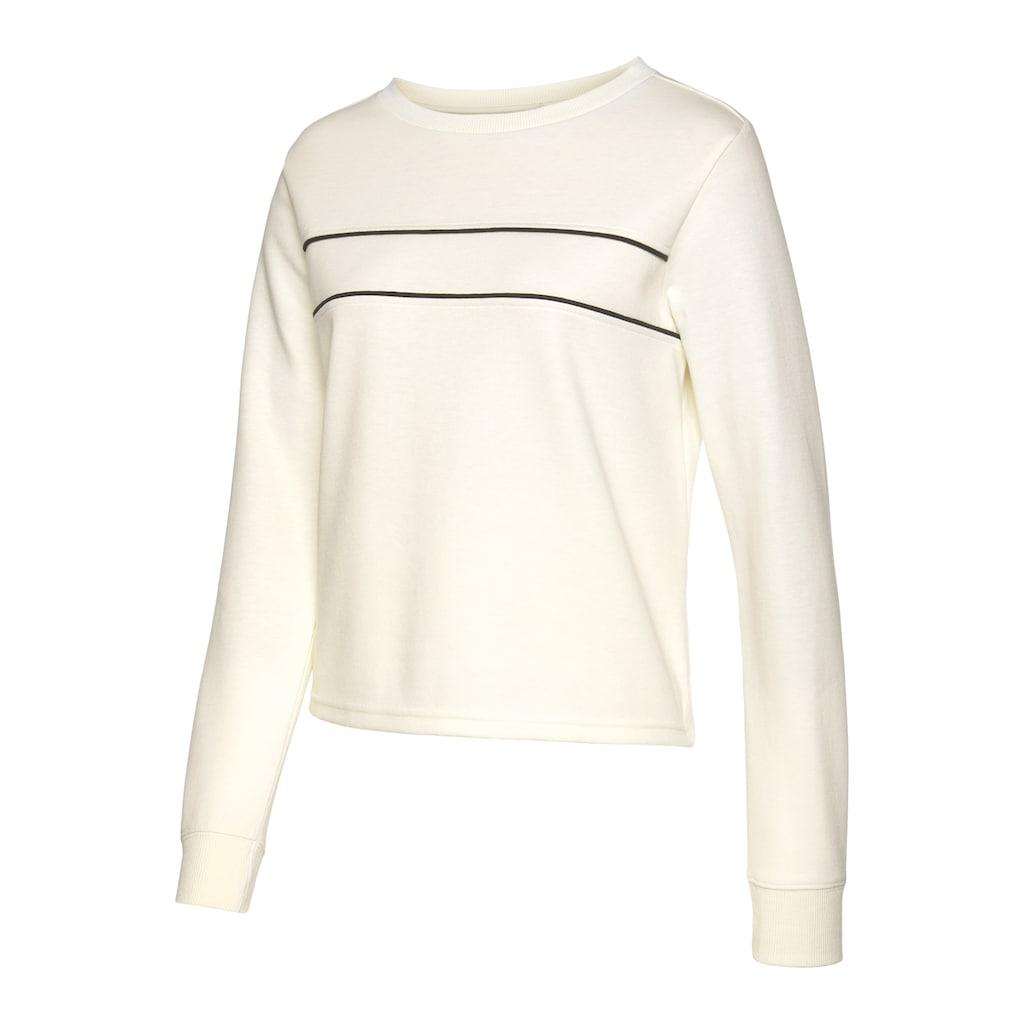 H.I.S Sweatshirt, mit Piping auf der Brust