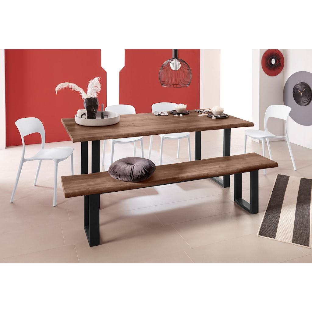 INOSIGN Sitzbank »Selina«, mit schönem Metallgestell und folierte Holzoptik auf der Sitzfläche