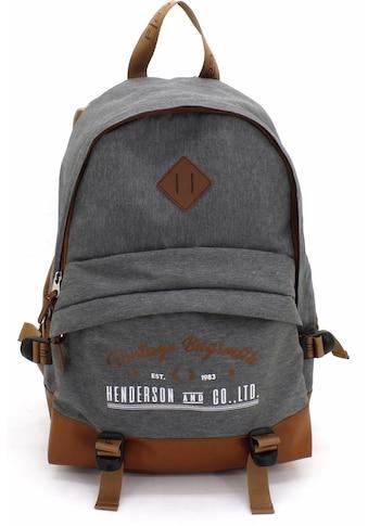 F23™ Laptoprucksack »Henderson & Co 24 L  -  grau meliert« kaufen