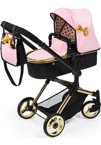 Bayer Kombi-Puppenwagen »Vario, gold«, mit Wickeltasche kaufen