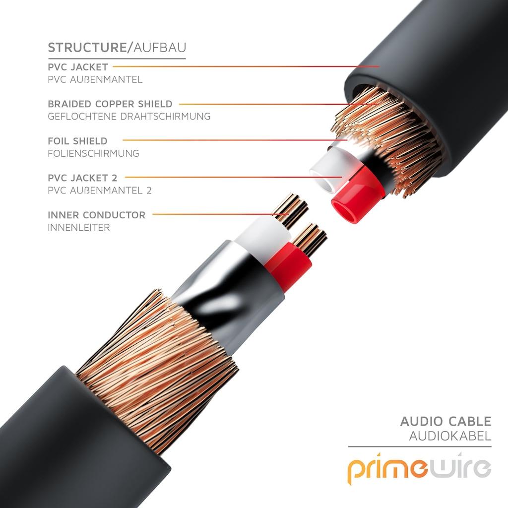 Primewire Stereo HiFi Audio-Adapter mehrfach geschirmt »2x Cinch zu 3,5mm AUX Klinke / HQ Series«