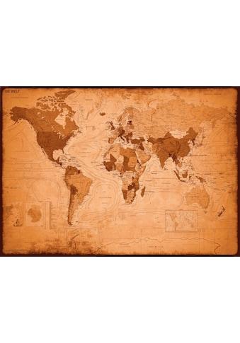 Deco - Panel »Weltkarte  -  antik« kaufen