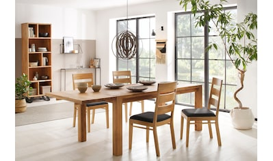 Home affaire Essgruppe »Nils 5« (Set, 5 - tlg Tisch 180/90 cm, 4 Stühle, Polstersitz) kaufen