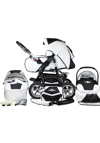 bergsteiger Kombi-Kinderwagen »Milano, black & white, 3in1«, 15 kg, Made in Europe;... kaufen