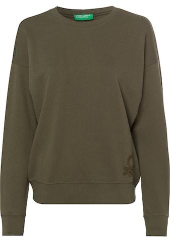 United Colors of Benetton Sweatshirt, mit einem großen, tonigen Label-Stitching über... kaufen