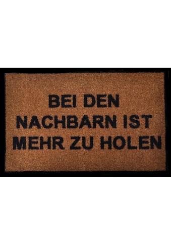 HANSE Home Fußmatte »Nachbarn«, rechteckig, 7 mm Höhe, Fussabstreifer, Fussabtreter,... kaufen