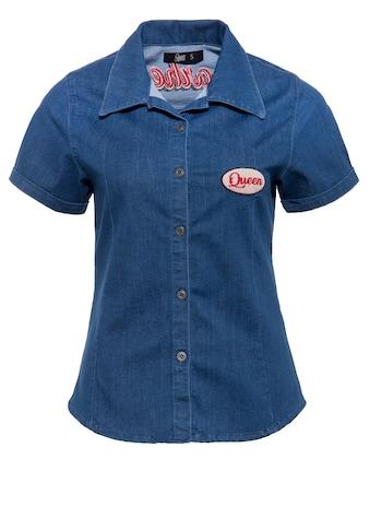 QueenKerosin Jeansbluse »Gearhead«, mit Stickerei kaufen