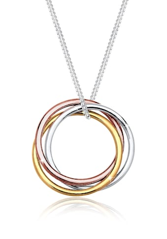 Elli Kette mit Anhänger »Kreis Anhänger Tricolor Look 925 Sterling Silber« kaufen