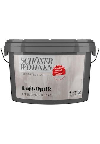 SCHÖNER WOHNEN-Kollektion Spachtelmasse »Loft-Optik Effektspachtel grau«, 4 kg kaufen