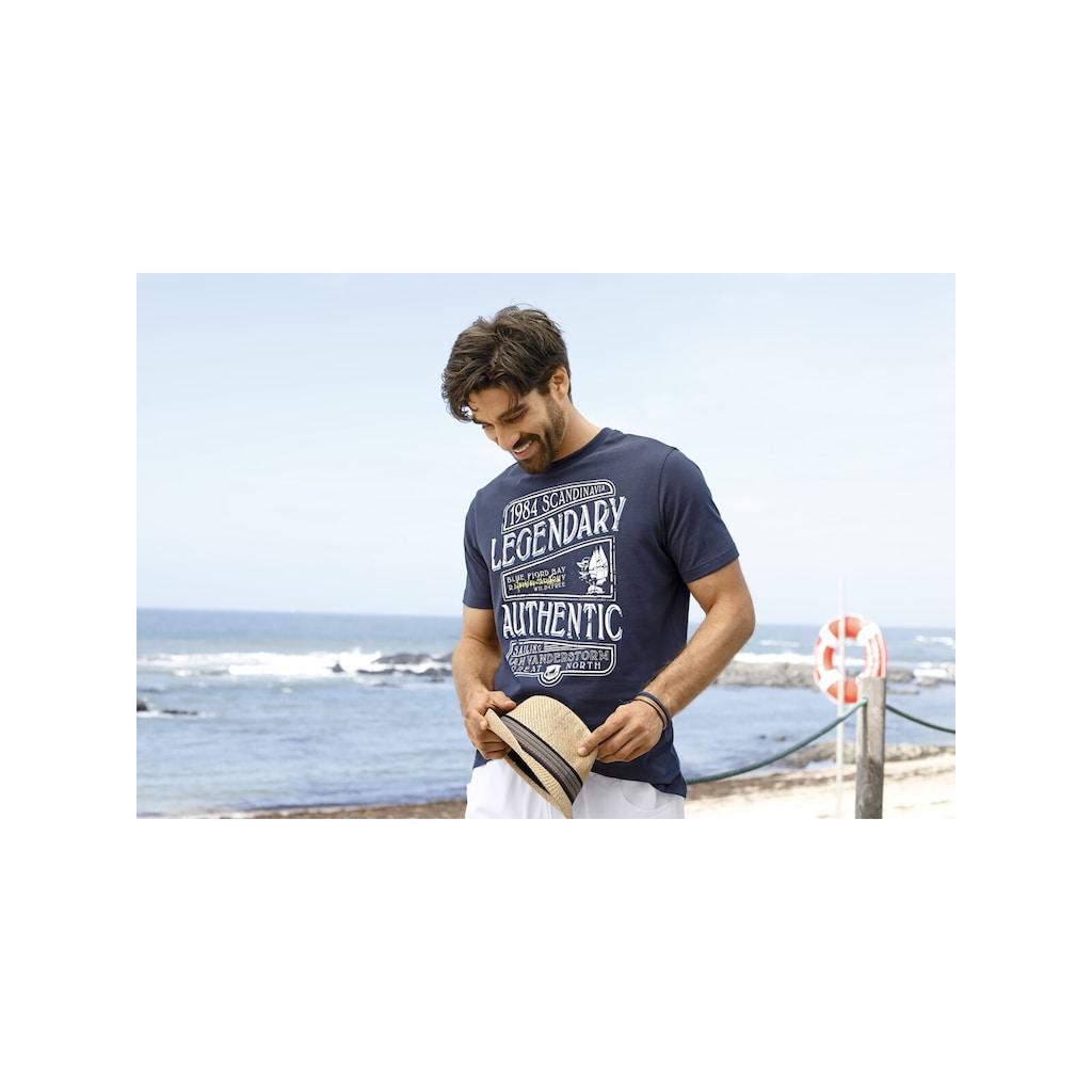 Jan Vanderstorm T-Shirt »RIAAN«, reine Baumwolle, Comfort Fit